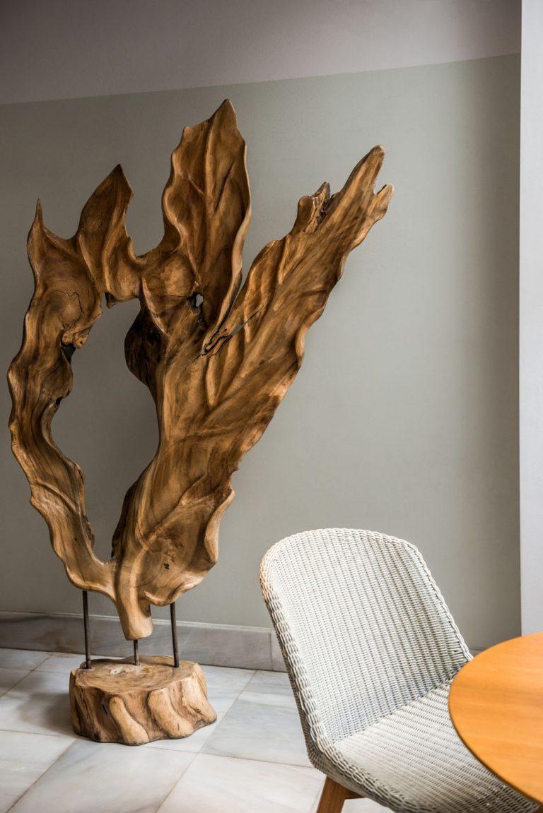 Big Wooden Sculpture of a leaf