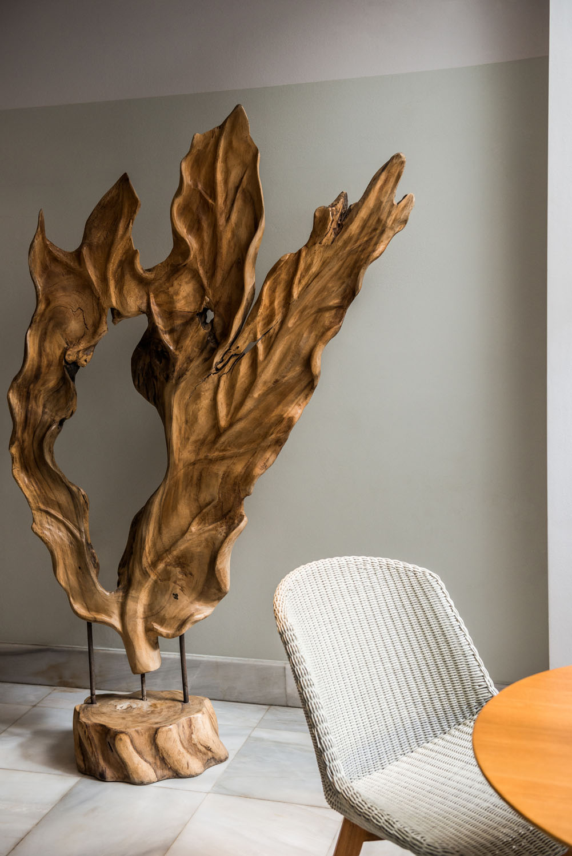 Wooden Sculpture of a leaf