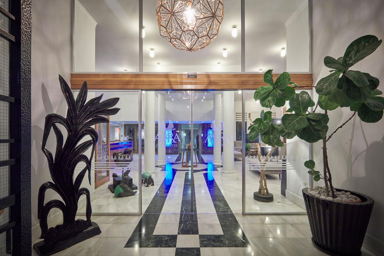 entrance door of the hotel