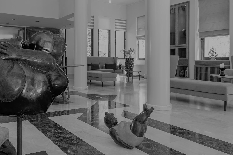 Decoration inside the lobby