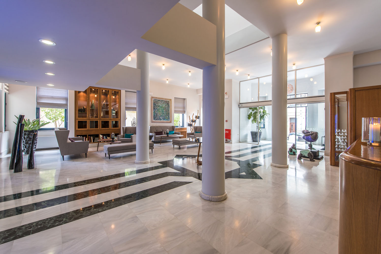 Full View of the Lobby