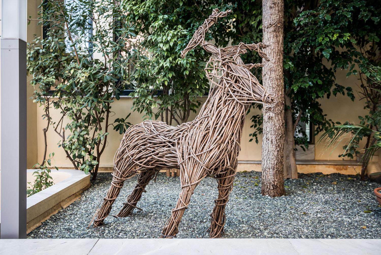 Patio Deer Sculpture