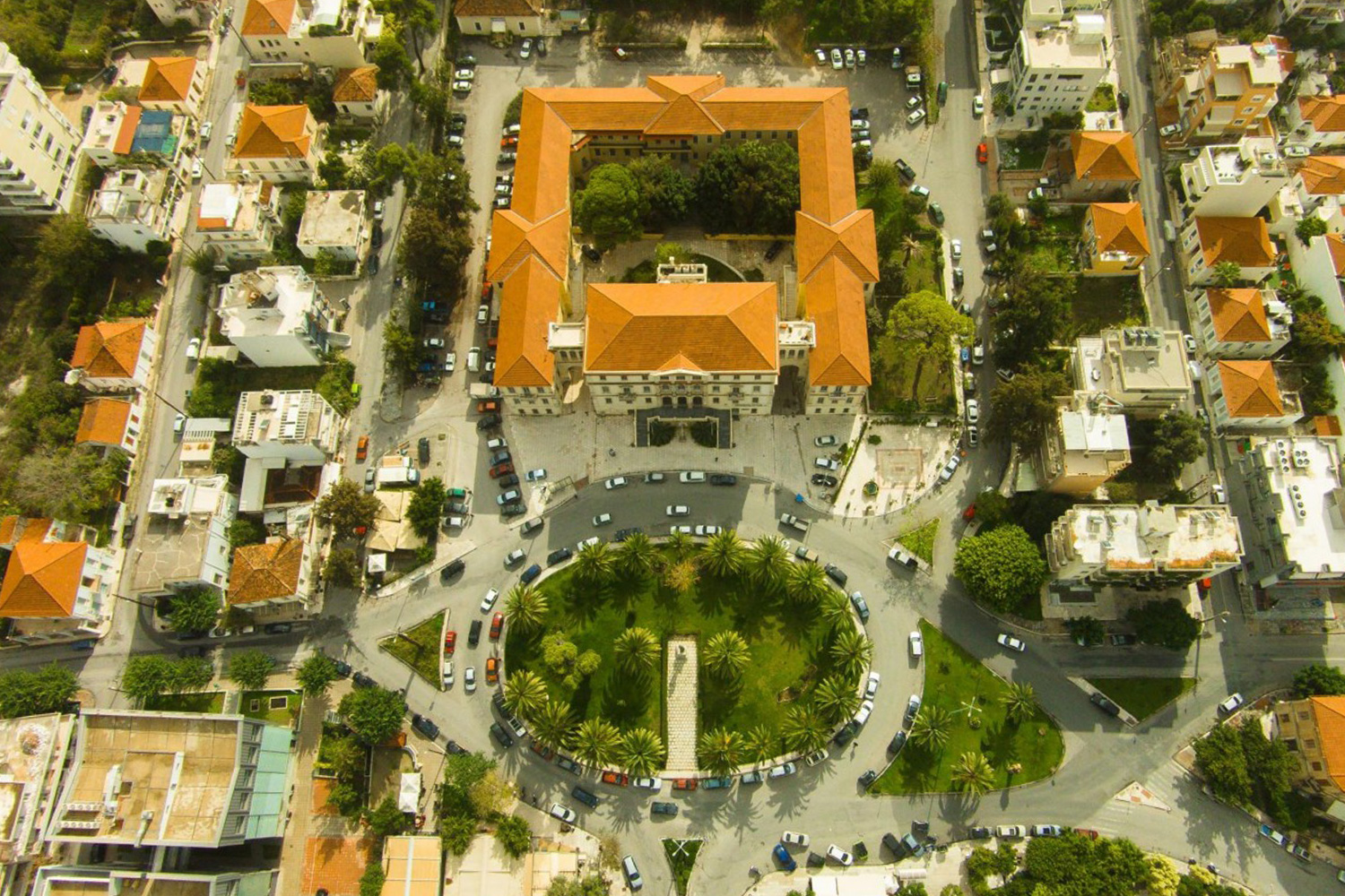 Aerial View of the Courts of Chania