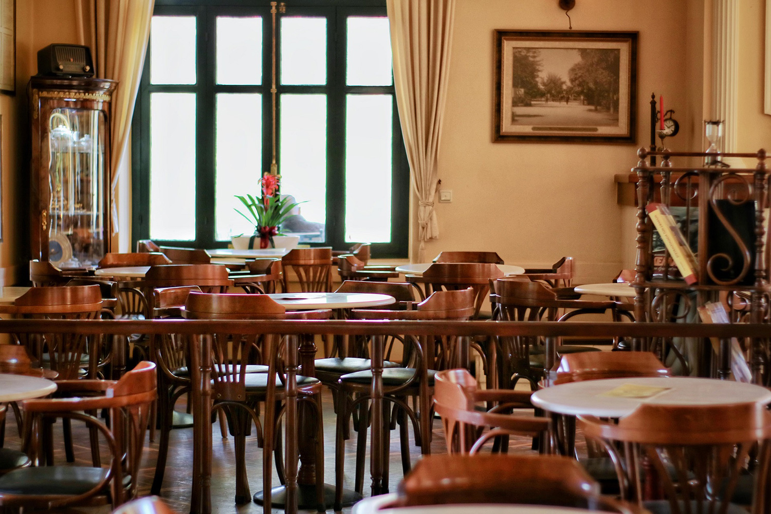 Chairs inside the cafeteria