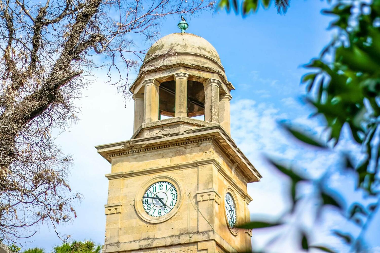 Clock tower of the garden
