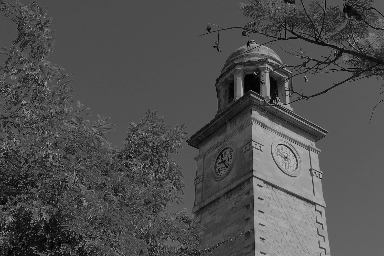 Clock tower near the gardens