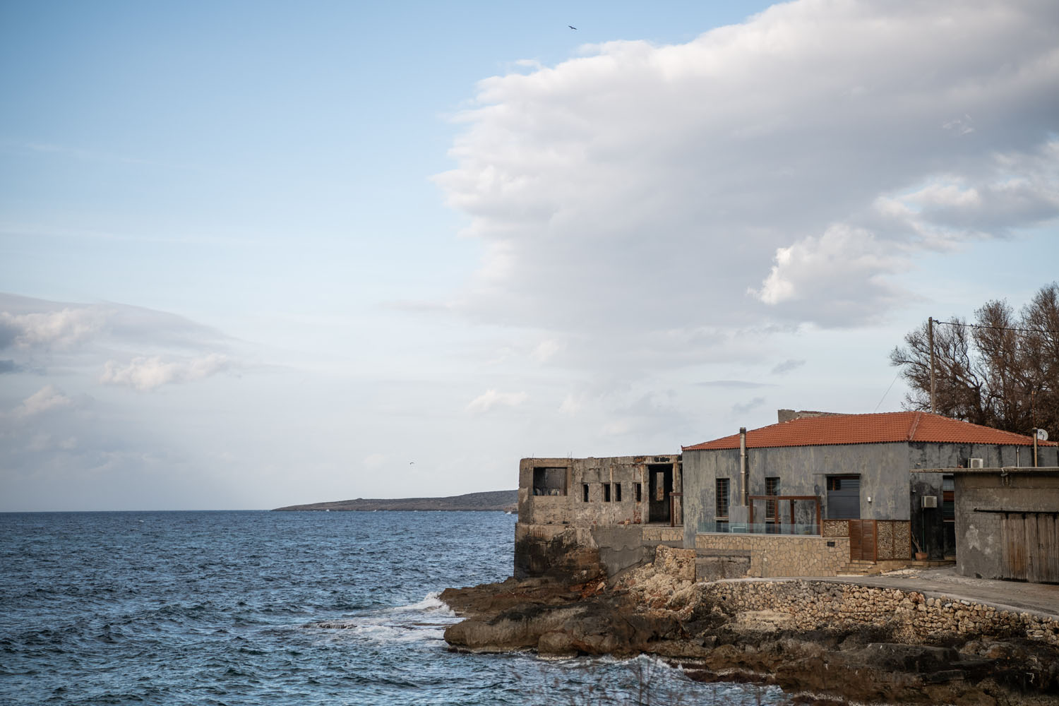 house next to the sea in tabakaria