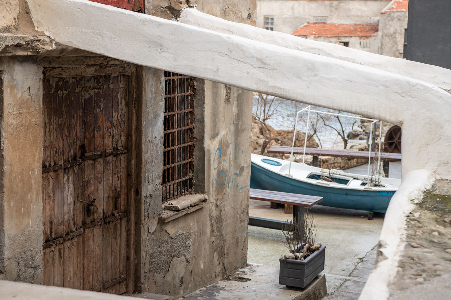 boat at an alley in tabakaria