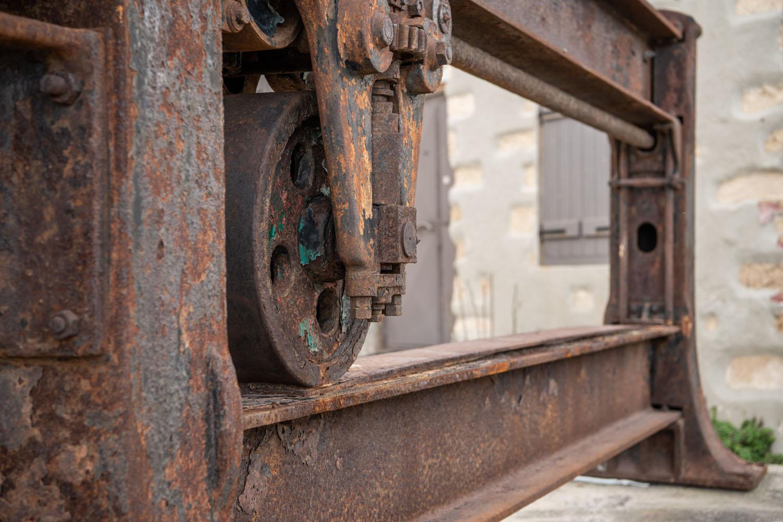 rusty manufacturing machine