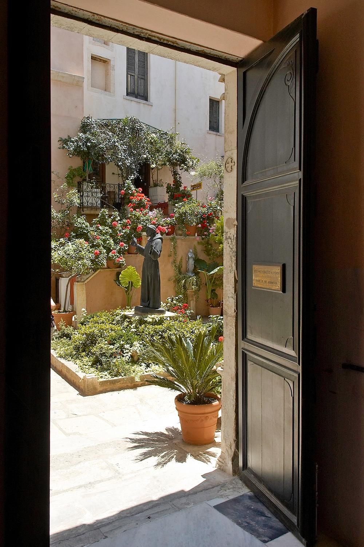 Entrance of the catholic church