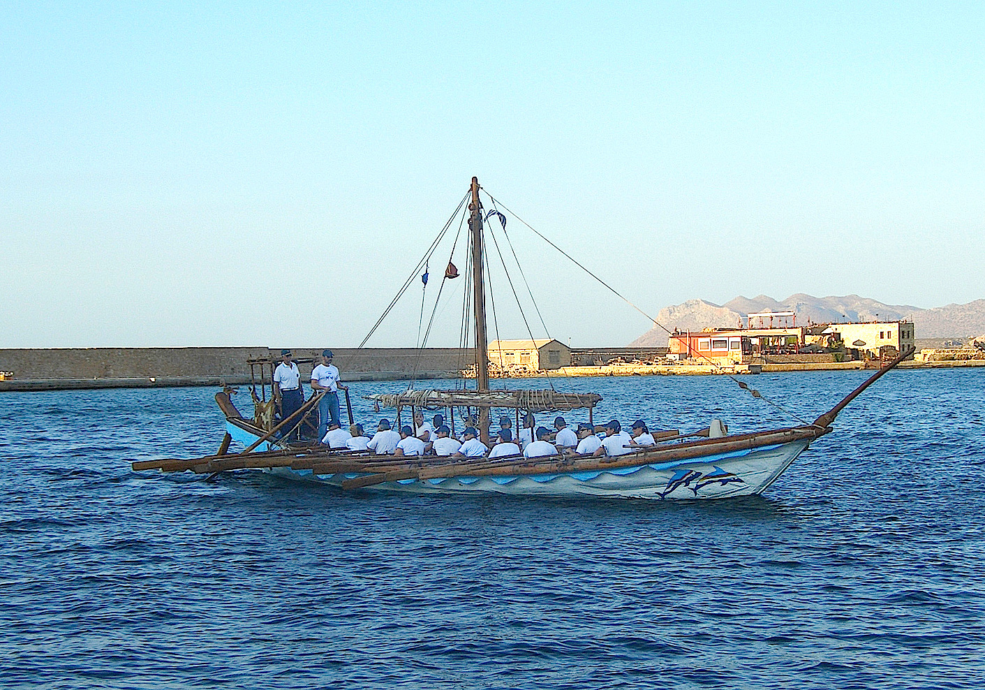 The Minoan Ship sailing