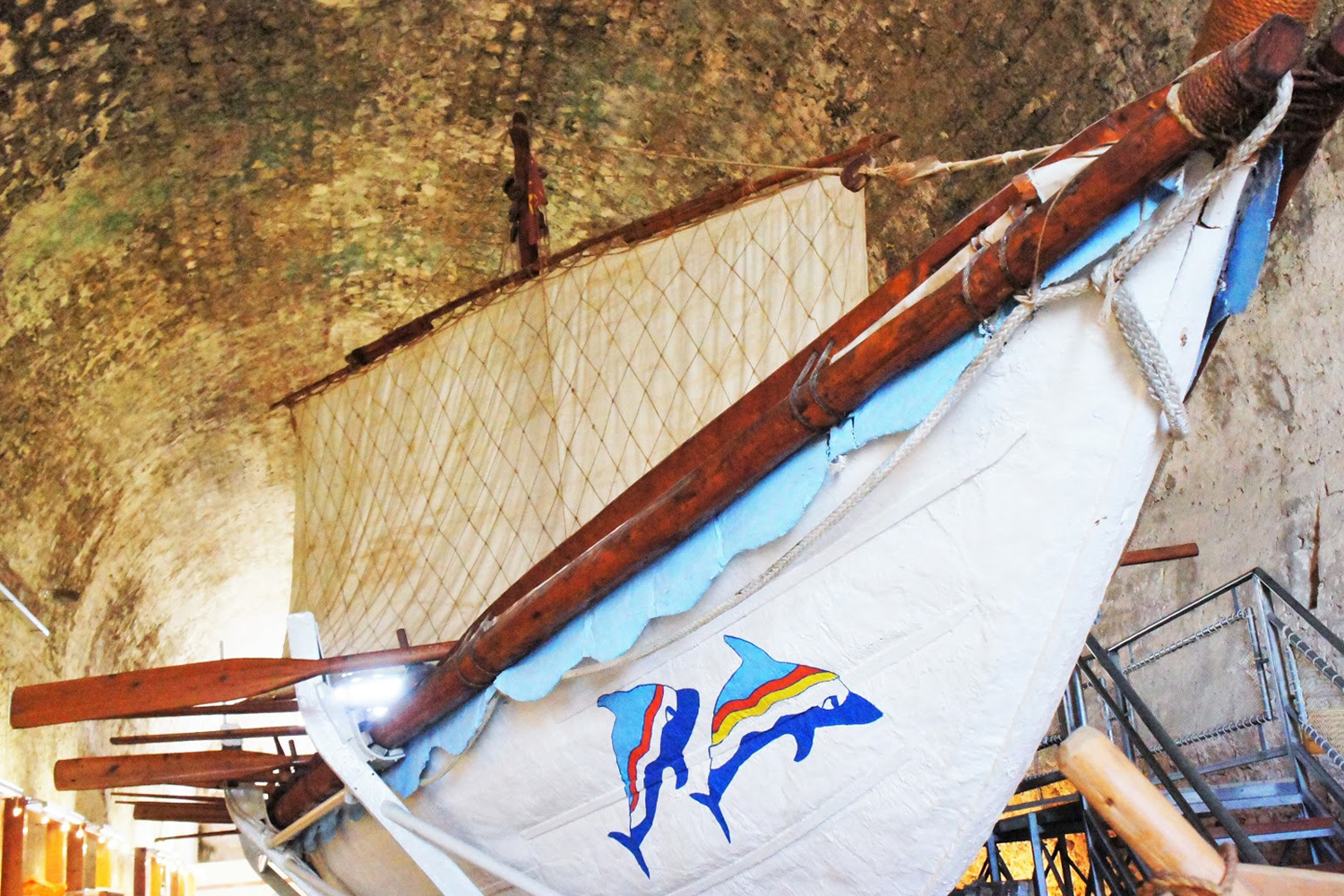 The Minoan Ship from below inside the storage room