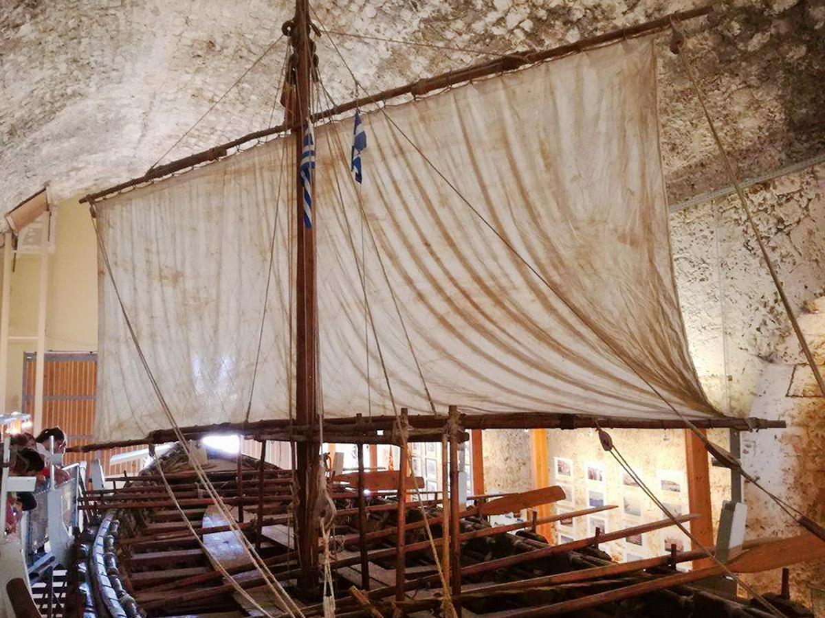 The Minoan Ship inside the storage room