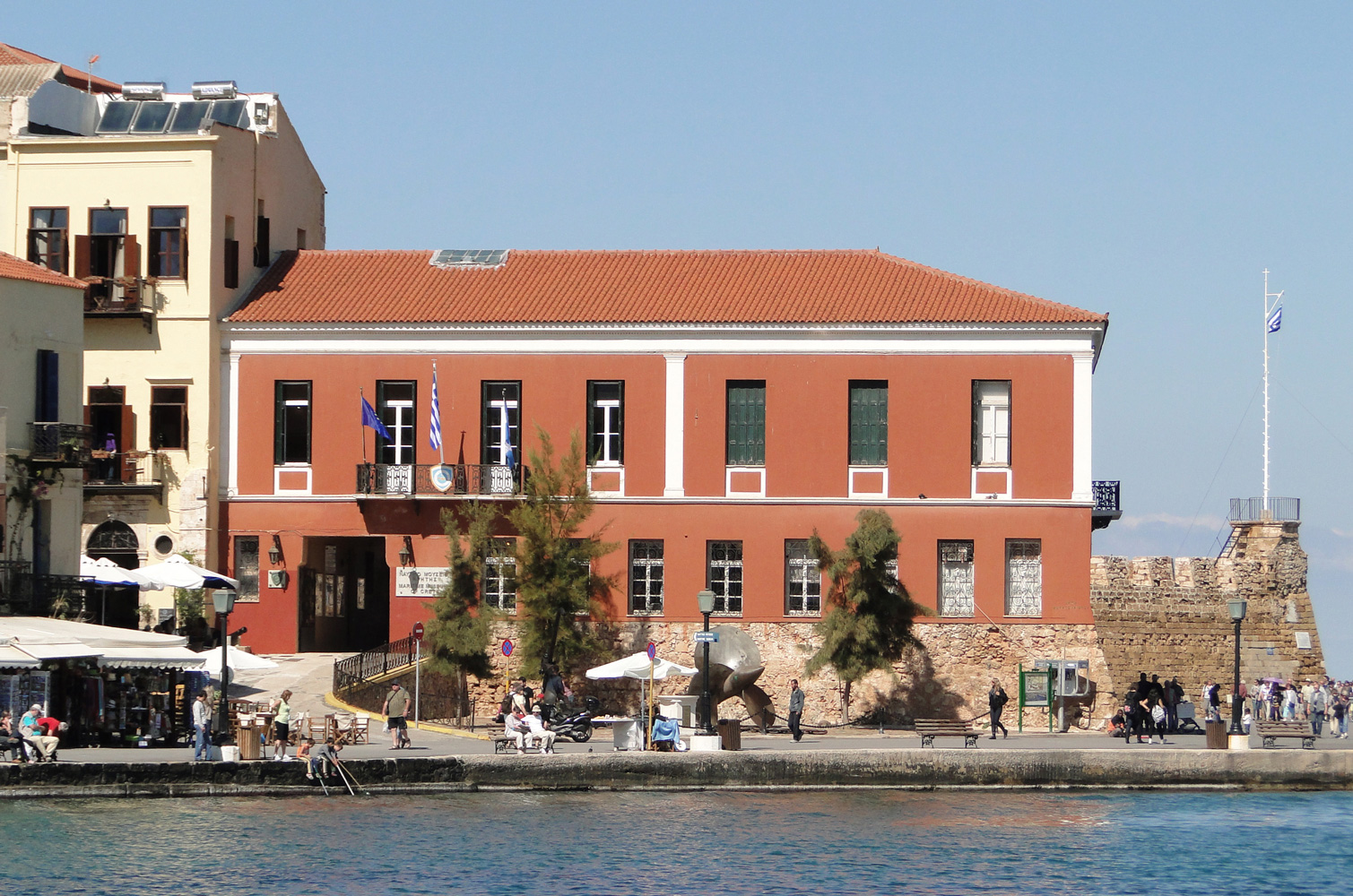 Side view of the Maritime Museum of Crete