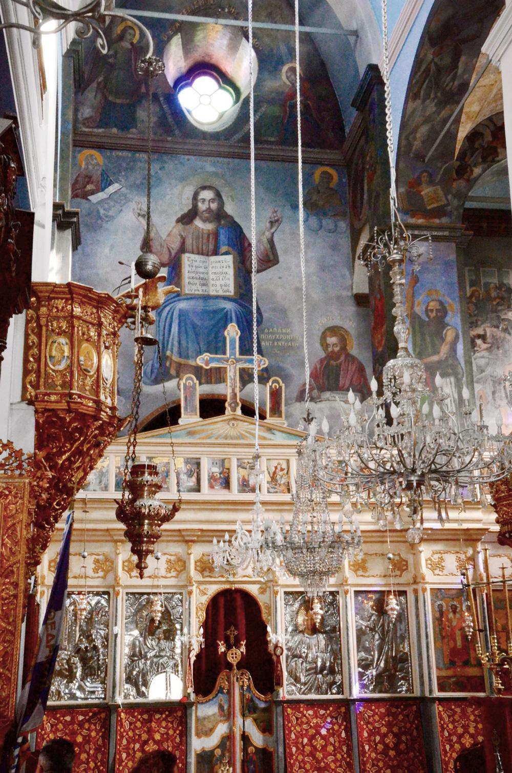 Wall paintings inside the Mitropoli Church