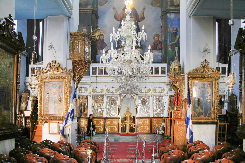 Chandelier Inside the Mitropoli Church