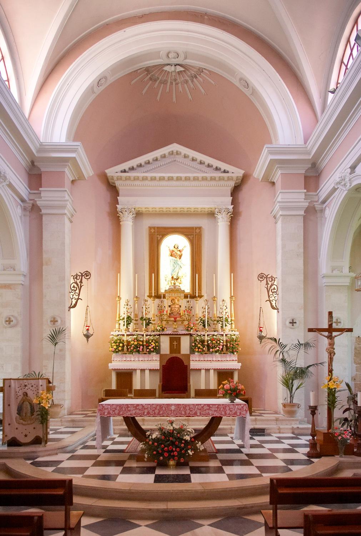 Inside the Catholic Church of Chania